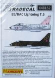 X48152  1/48 BAC/EE Lightning T.5 decals (5)